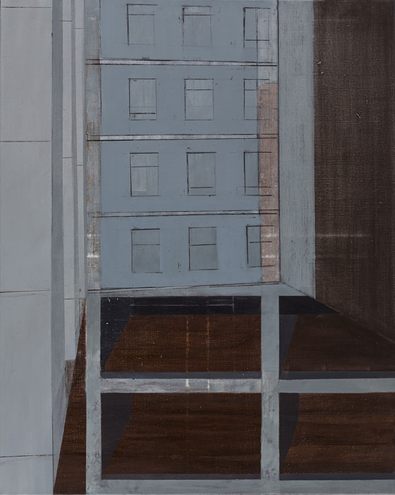 Milena Romanowska, Portyk V, 2017, 100 x 80 cm